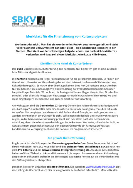 thumbnail of Merkblatt Kulturförderung SBKV_11.09.2018