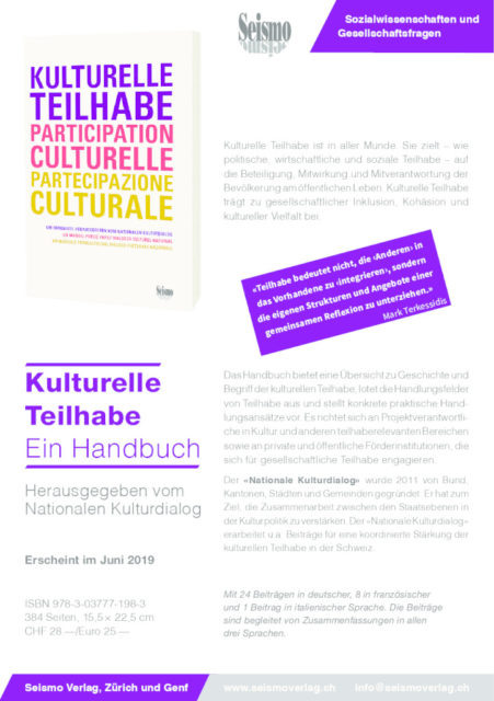thumbnail of Flyer Seismo Handbuch Kulturelle Teilhabe d_f_i