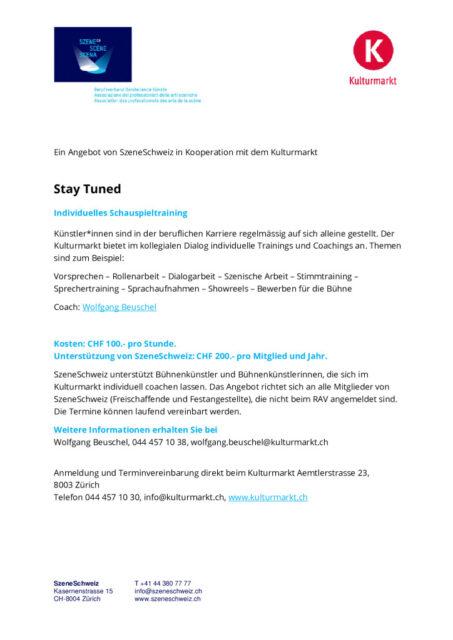 thumbnail of Kulturmarkt_SzeneCH stay tuned 2021