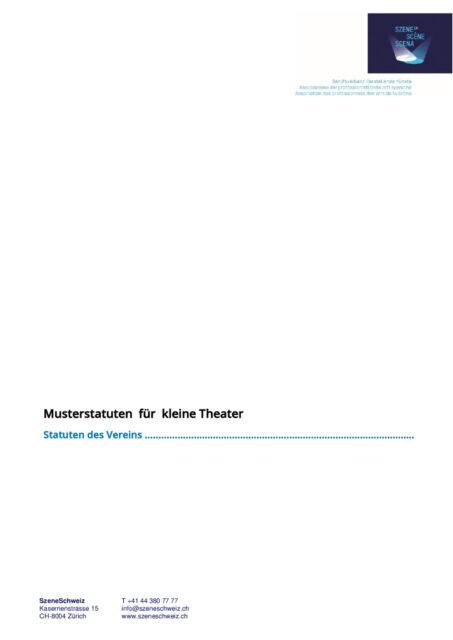 thumbnail of Musterstatuten_Kleintheater SzeneCH 2021